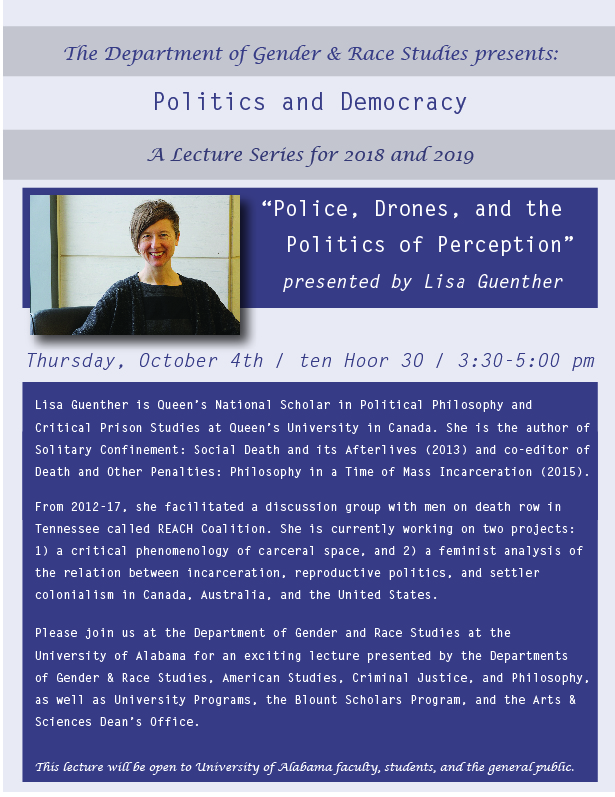 """Police, Drones, and the Politics of Perception"" flyer"