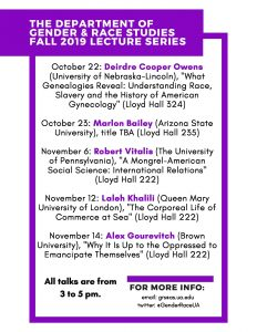 GRS Lecture Schedule Fall 2019