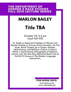 Marlon Bailey Lecture Flyer