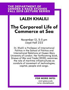 Laleh Khalili Lecture Flyer